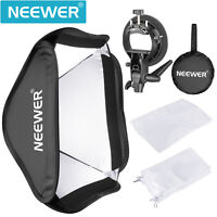 Neewer Collapsible Softbox with S-type Bracket Mount for Speedlite Flash