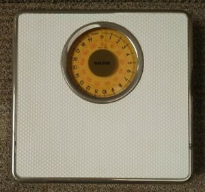Vintage Salter 1970s Bathroom Scales - Classic Rotating Dial