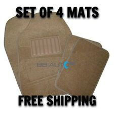 NEW TAN 4pc Floor Mats Set Heavy Duty Non Skid Carpet Front Rear for Ford