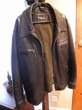Kenneth Cole New York 100% Leather Motorcycle Jacket, Size XL