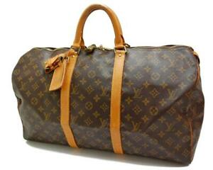 Authentic LOUIS VUITTON  MONOGRAM  KEEPALL 50 DUFFLE BAG MB9001 0506a