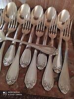 6 Couverts de Table à décor de Feuilles de Laurier Orfèvrerie Lafond