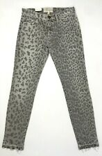 Current Elliott Women's Skinny Jeans The Stiletto Grey Leopard Print Size 24