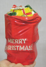 Vtg Christmas Figural Sack of Gifts Bank Wdw of California Made in Japan