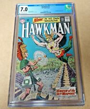 DC HAWKMAN #1 4-5/64 CGC 7.0 OFF W - WHITE PGS. 1ST HAWKMAN IN HIS OWN TITLE