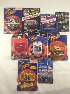WINNER'S CIRCLE MULTIPLE DRIVERS LOT OF 9 NASCAR TOY CARS L3