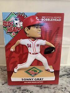 2021 Sonny Gray Cincinnati Reds Heads Member Exclusive Bobblehead RARE NIB