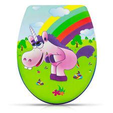 WC Sitz mit Absenkautomatik Drunky Unicorn Toilettendeckel Einhorn Regenbogen