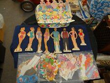 Vintage 1960's Paper Dolls and Outfits Bulk Lot! Barbie, Family Affair, Mattel💥