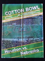 1980 NCAA FOOTBALL COTTON BOWL HOUSTON COUGARS VS NEBRASKA CORNHUSKERS PROGRAM