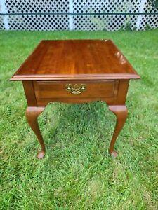 Ethan Allen Georgian Court Rectangular End Table Cherry #11-8407 #205 Newport