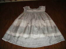CREWCUTS GIRLS 5 GRAY SILK DRESS GORGEOUS 6 7 8 10