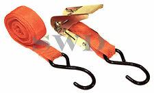 """1"""" x 15ft Sangle À Cliquet Acier Enduit 'S' Crochets barres de toit moto"""