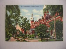 VINTAGE LINEN POSTCARD OF THE UNIVERSITY OF TAMPA IN TAMPA, FLORIDA UNUSED