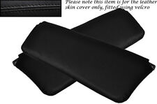 BLACK STITCHING FITS VOLVO AMAZON 122 122S 120 2X SUN VISORS LEATHER COVERS ONLY