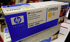 HP 1500 2500 Color Laserjet C9702A Yellow Print Cartridge New in Sealed Package