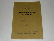 Betriebsanleitung Mercedes Benz W136 Typ 170 D 170D a 170 Da, Stand 06/1951