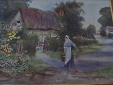 19th century warwickshire country cottage waterclour v jordan