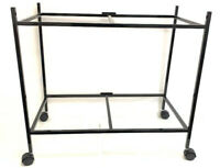 """2 Tier Rolling Stand For 30"""" x 18"""" x 18"""" Aviary Bird Flight Cage Black"""