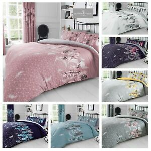 Printed  Feathers Duvet Quilt  Cover Bedding Set & Pillowcases Or Bed Sheets