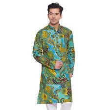 Men Full Sleeve Designer Indian Cotton Long Kurta Casual Wear Printed Kurta 1757