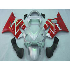 Painted Injection Fairing Bodywork Kit For Honda CBR600F4I 2001-2003 Red Silver