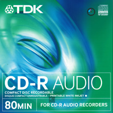 TDK CD-R Audio Printable White Inkjet 10psc.