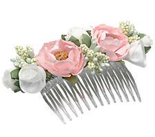 Mädchen Damen Haarkamm Haarschmuck Kamm Hochzeit Jugendweihe Blumenmädchen weiß
