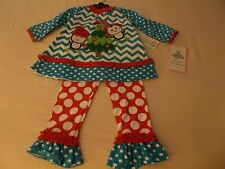 RARE EDITIONS Christmas/Holiday Penguin Girls' 2 Piece Legging Set Size 2T  NEW