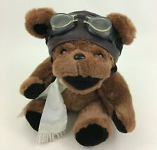 "Steven Smith Pilot Grateful Dead Teddy Bear 13"" Plush Stuffed Toy Googles Scarf"