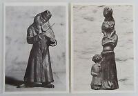 Motiv Lot 2x Postkarte AK mit Skulptur Otto Pankok Jüdischer Geiger & Mädchen