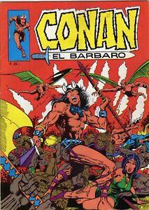 CONAN EL BARBARO 1 AÑO 1971 GABRIELA MISTRAL CHILE GREAT CONDITION SPANISH COMIC