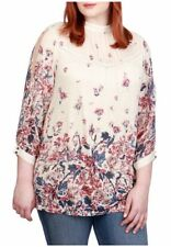 Lucky Brand Plus Size Mixed Print Top. Size 2X.