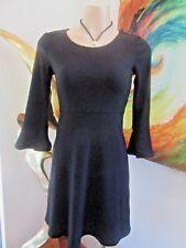 Metalicus Dress Black Knit  Long Sleeves Sizes S/M BNWT