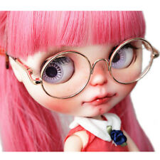 [wamami ]Hot Sale  Doll Glasses For Neo Blythe Doll Gold Round  Doll Clothes