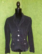 French Cuff Black Corduroy Jacket RN#89169 Size:S