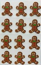 New listing Trimplace Gingerbread Man Press-On Applique- 1 inch x 1-3/8 inch - 12 Pieces