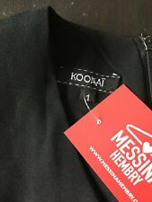 Kookai Size 1 Small Black A Line Dress, Sleevelss, Fit And Flare. Office Wear.