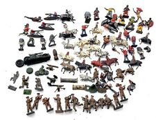 Antique Bundle Job Lot Lead Metal Toy Figures Army Men Soldiers Military Cavalry