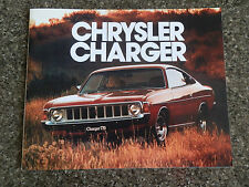 1975 CHRYSLER  VK VALIANT CHARGER SALES BROCHURE  100% GUARANTEE.