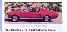 1968 Ford Mustang GT/GTA California Special 390 427 ci Info/Specs/photo 11x8