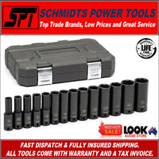 "GEARWRENCH 84955N 1/2"" DRIVE METRIC DEEP IMPACT SOCKET SET 14 PIECE SET W/ CASE"