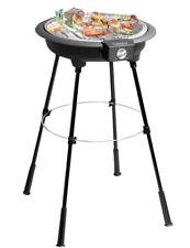 Barbecue elettrico BBQ rotondo con piedistallo NERO 2200W CUOCE SENZA FUMO