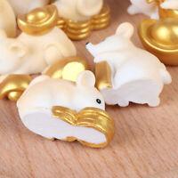 Süße Maus Figuren Gold Miniaturen Figur Handwerk Gartendekoration 2020 Jahr