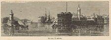 C8736 Bari - Città Vecchia - Panorama - Stampa antica - 1892 Engraving