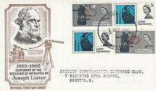 (58881) GB FDC Lister phoshor & non-phoshor Bristol 1965