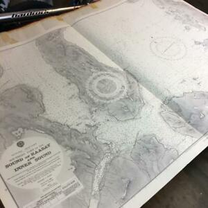 Scotland 1969 Chart map part Skye Portree sound Raasay large 100x70cm very clean