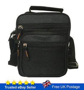 Men Women Messenger Bag Black Cross Body Shoulder Utility Sports Travel Work