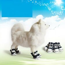 4pcs Pet Dog Boots Puppy Denim Sports Anti-slip Shoes Sneakers SMALL BIG Dogs