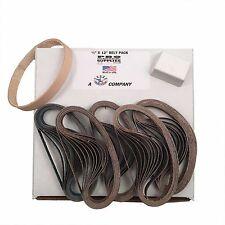 "1/2""x12"" Work Sharp Belt Pack-120, 400, 600, 800, 1000 & Leather Belt w Compound"